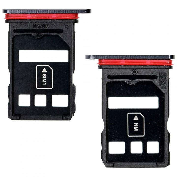 Держатель SIM-карты для Huawei P40 (Black) (Original PRC)