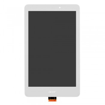 Дисплей Acer Iconia B1-810 с тачскрином (White) в рамке