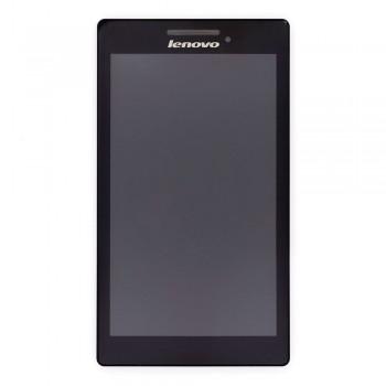 Дисплей Lenovo Tab 2 A7-10 с тачскрином (Black) в рамке