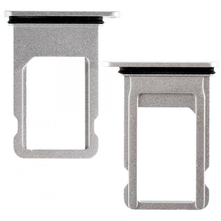 Держатель SIM-карты для Apple iPhone 8 Plus (Silver) (Original PRC)