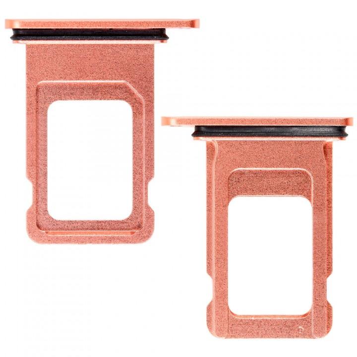 Держатель SIM-карты для Apple iPhone XR Single Sim (Coral) (Original PRC)