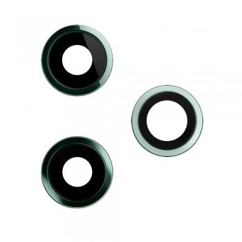 Стекло камеры для iPhone 11 Pro / 11 Pro Max в рамке (Midnight green)