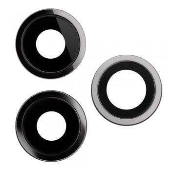 Стекло камеры для iPhone 11 Pro / 11 Pro Max в рамке (Space grey)