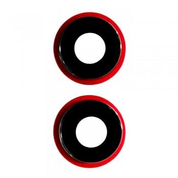 Стекло камеры для iPhone 11 (Red)