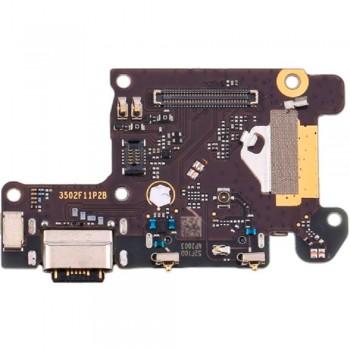 Нижняя плата Xiaomi Mi 9T с разъемом зарядки и микрофоном (Original)