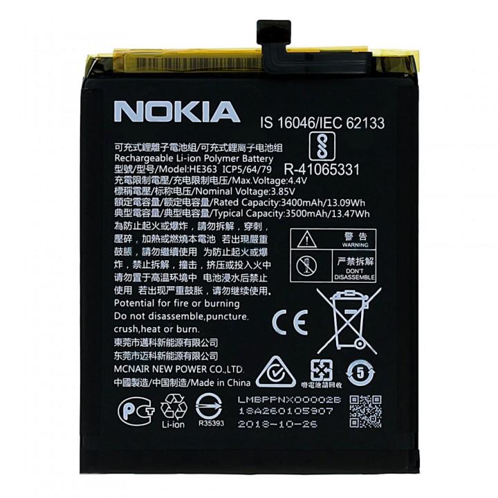 Аккумулятор Nokia HE363 для Nokia 3.1 Plus (TA-1104) (3500 mAh)