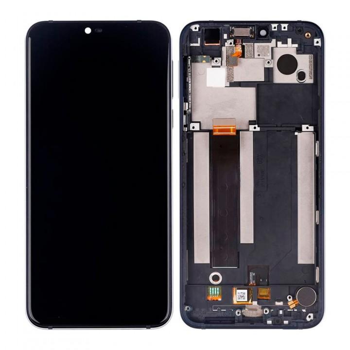 Дисплей Nokia 7.1 с тачскрином (Black) Original PRC в рамке