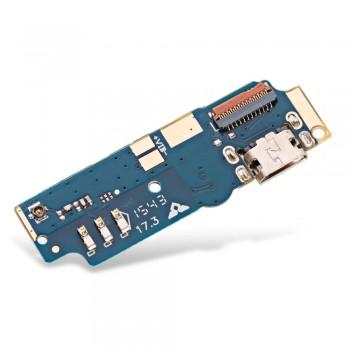 Нижняя плата Asus ZenFone Max (ZC550KL) с разъемом зарядки и микрофоном