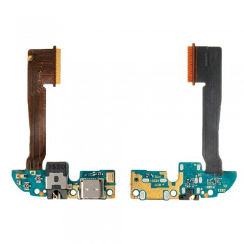 Нижняя плата HTC One M8 с разъемом зарядки и аудио коннектором