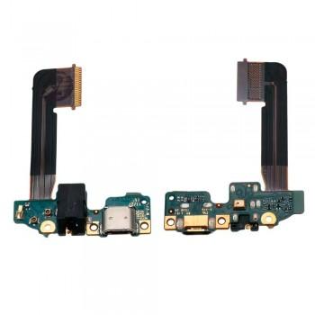 Нижняя плата HTC One M9 с разъемом зарядки и аудио коннектором