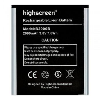 Аккумулятор Highscreen B2000B для Highscreen WinWin (1950 mAh)