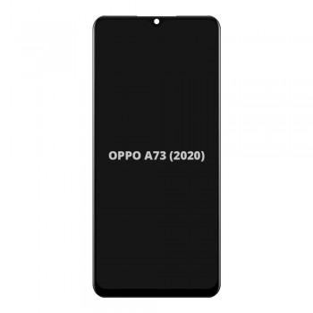 Дисплей Oppo A73 (2020) с тачскрином (Black) (High Copy)