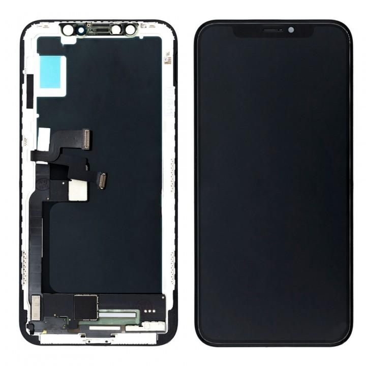 Дисплей iPhone X с тачскрином (Black) Original OEM в рамке