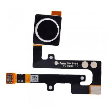 Сканер отпечатка пальца для Nokia 6.1 Plus / Nokia X6 (Black) Original