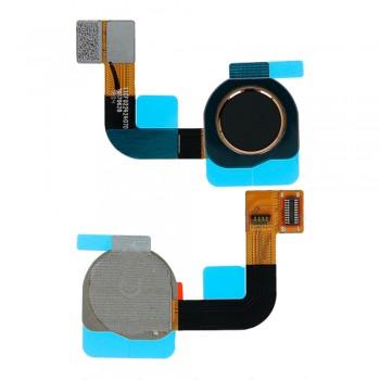 Сканер отпечатка пальца для Nokia 7 Plus (Black) Original