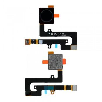 Сканер отпечатка пальца для Nokia 7.1 (Black) Original
