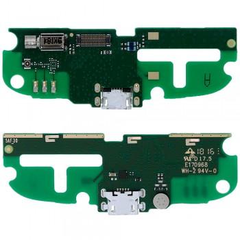Нижняя плата Nokia 1 (TA-1047) с разъемом зарядки и микрофоном (Original)