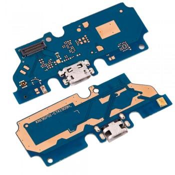Нижняя плата Nokia 2.2 (TA-1188 / TA-1179) с разъемом зарядки и микрофоном