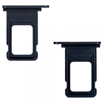 Держатель SIM-карты для Apple iPhone 11 Dual Sim (Black) (Original PRC)