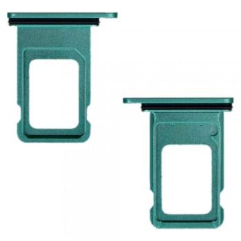 Держатель SIM-карты для Apple iPhone 11 Dual Sim (Green) (Original PRC)