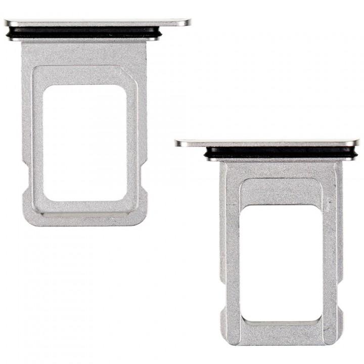 Держатель SIM-карты для Apple iPhone 11 Pro Max Single Sim (Silver) (Original PRC)