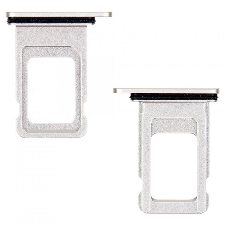 Держатель SIM-карты для Apple iPhone 11 Single Sim (White) (Original PRC)