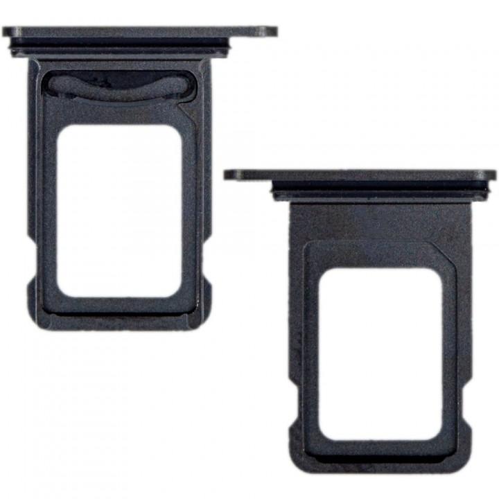 Держатель SIM-карты для Apple iPhone 12 Pro Dual Sim (Black) (Original PRC)