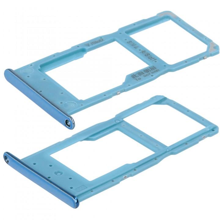 Держатель SIM-карты для Huawei P Smart 2019 (Sapphire blue) (Original PRC)