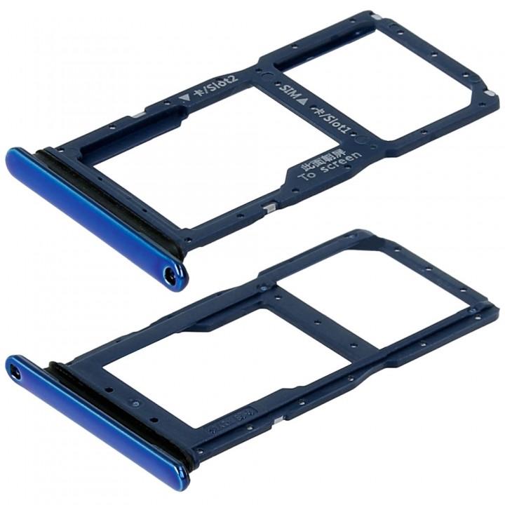 Держатель SIM-карты для Huawei P Smart Z (Blue) (Original PRC)