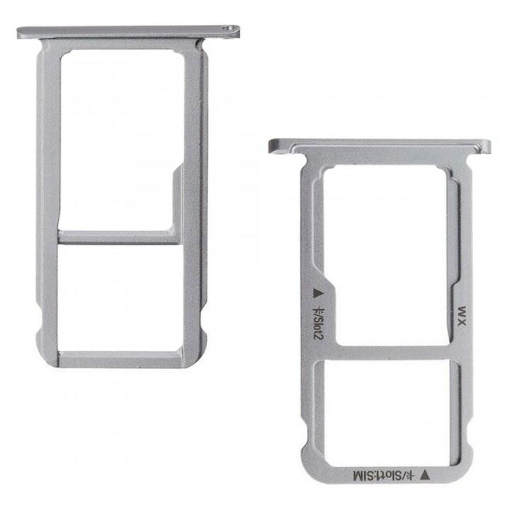 Держатель SIM-карты и MicroSD для Huawei Mate 9 Lite (Grey) (Original PRC)