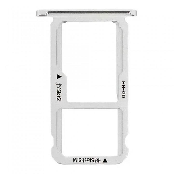 Держатель SIM-карты и MicroSD для Huawei Mate 9 Lite (Silver) (Original PRC)