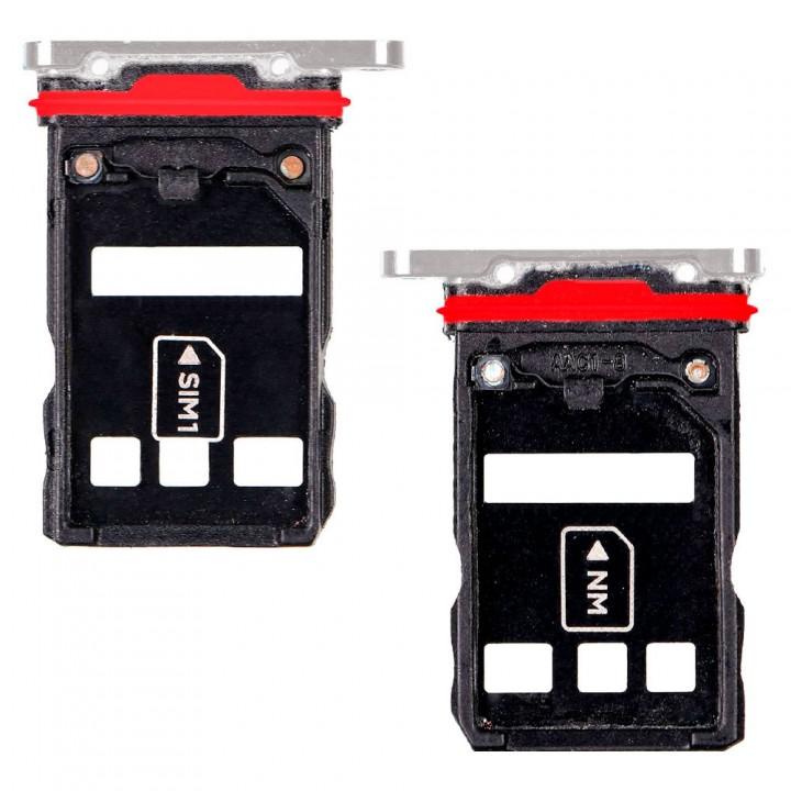 Держатель SIM-карты и MicroSD для Huawei P30 Pro (Pearl white) (Original PRC)