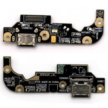 Нижняя плата Asus ZenFone 3 (ZE552KL) с разъемом зарядки и микрофоном
