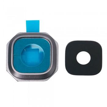 Стекло камеры для Samsung A310 Galaxy A3 / A510 Galaxy A5 / A710 Galaxy A7 в рамке (Black)