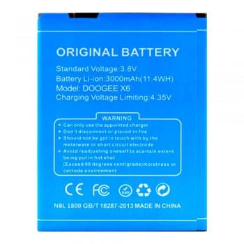 Аккумулятор Doogee X6 / X6 Pro (3000 mAh)